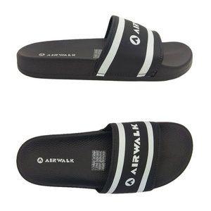 Mens Shoes Airwalk Surf Black Lightweight Slides